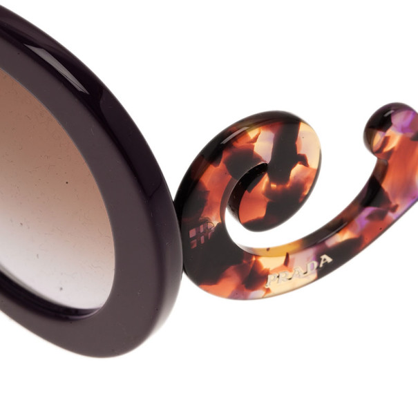 Prada Purple Round Baroque Sunglasses