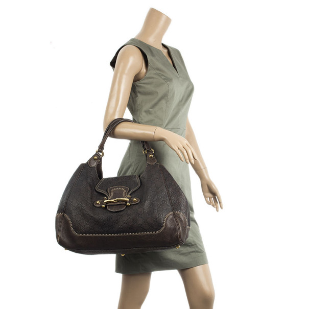 Gucci Brown Guccissima Leather New Pelham Large Shoulder Bag