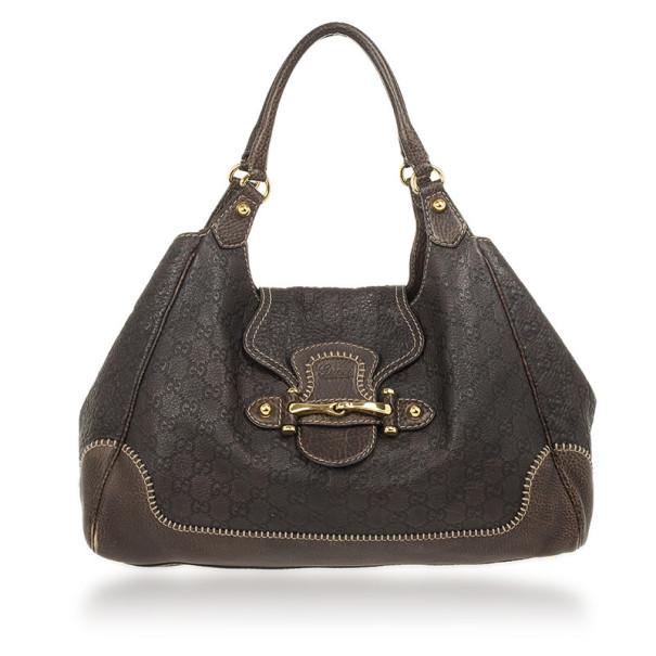 Gucci Brown Guccissima Leather New Pelham Large Shoulder Bag Nextprev Prevnext