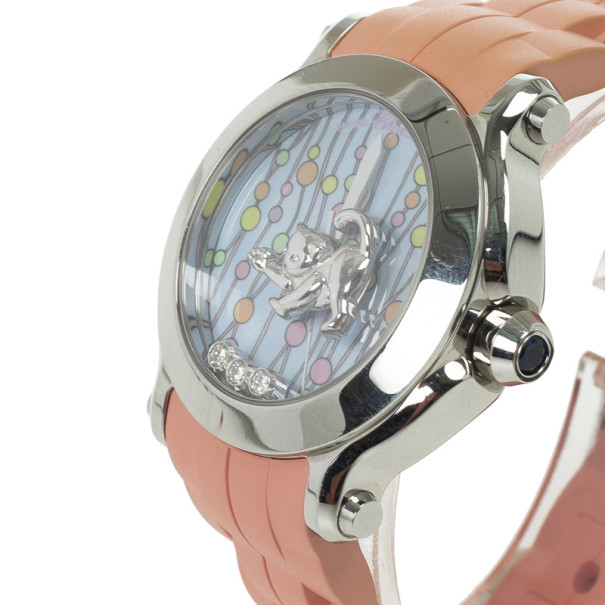 Chopard Blue Limited Edition Happy Sport Animal World 3 Womens Wristwatch 36 MM