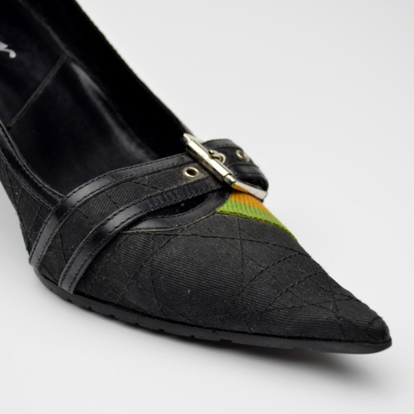 Dior Black 'Rasta' Collection Pumps Size 39
