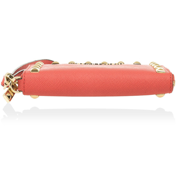 MICHAEL Michael Kors Coral Saffiano leather iPhone 5 Wristlet Wallet