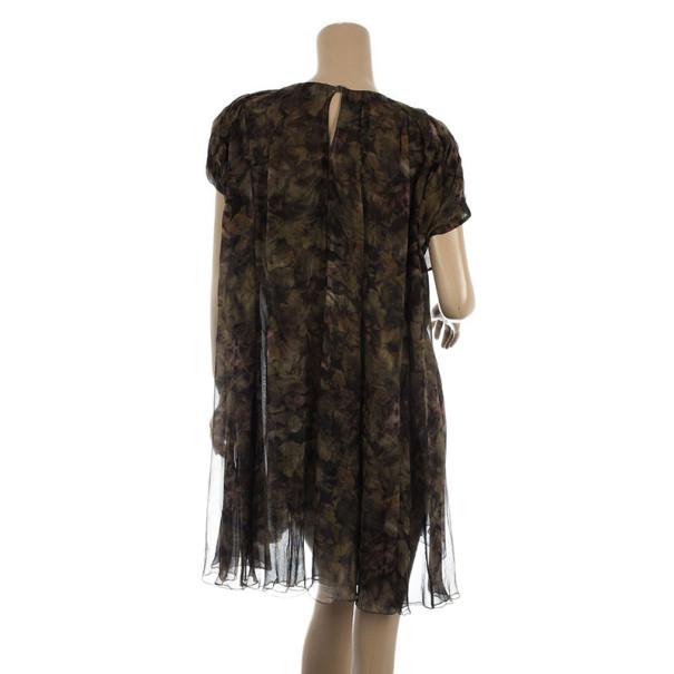Nina Ricci Silk Double Layer Evening Dress M