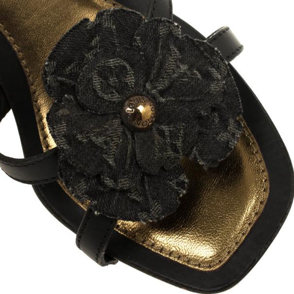 Louis Vuitton Freesia Platform Sandals Size 38.5