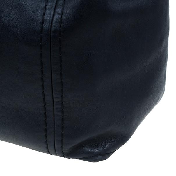 Jimmy Choo Blue Leather Medium Saba Hobo
