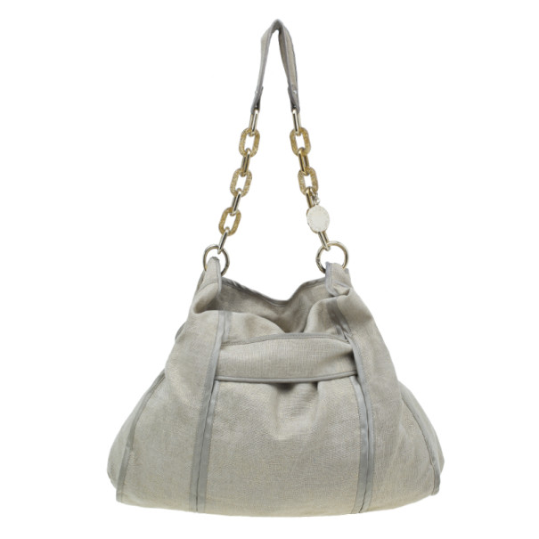 Stella McCartney Metallic Gold Canvas Hobo