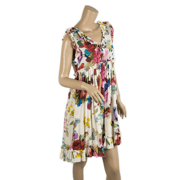 Dolce and Gabbana Floral Baby Doll Dress M