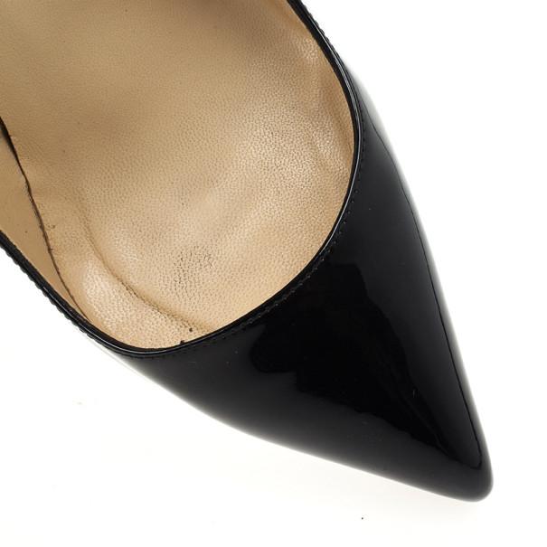 Christian Louboutin Black Patent Pigalle Plato Platform Pumps Size 38.5