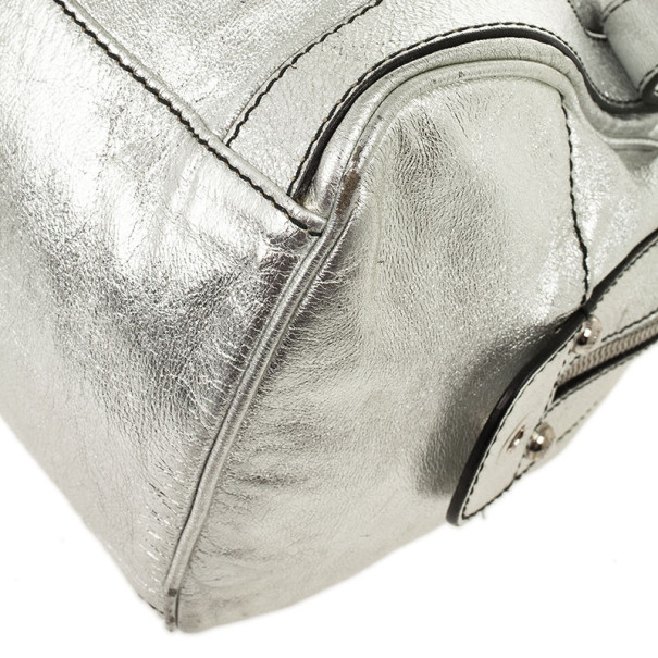 Dolce and Gabbana Miss Easy Way Metallic Boston Bag