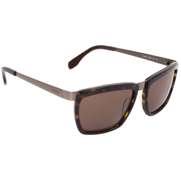Fendi Dark Havana Rectangle FS5188 Unisex Sunglasses
