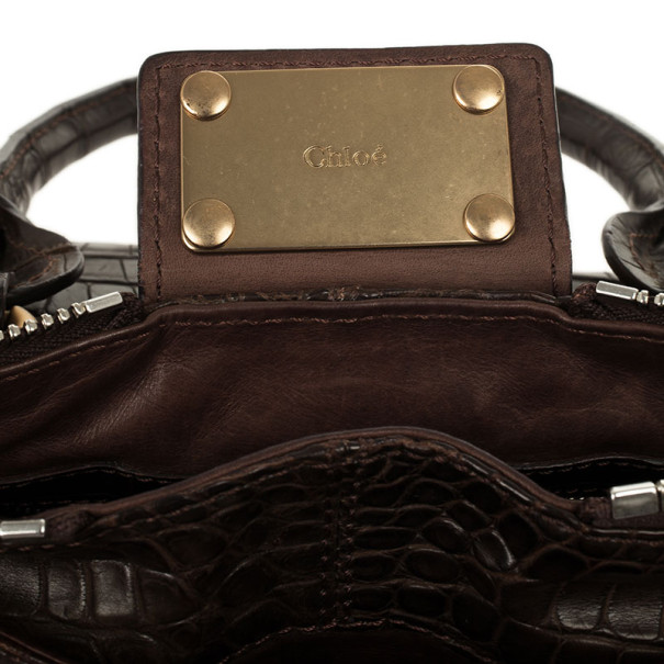white chloe handbag - LC - Buy \u0026amp; Sell - Chloe Croc Paddington Satchel