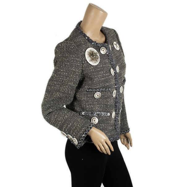 Moschino Badges Wool Jacket M