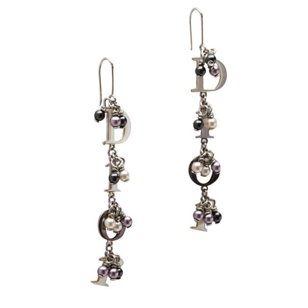 Dior Dangling Mother of Pearl Effect Earrings