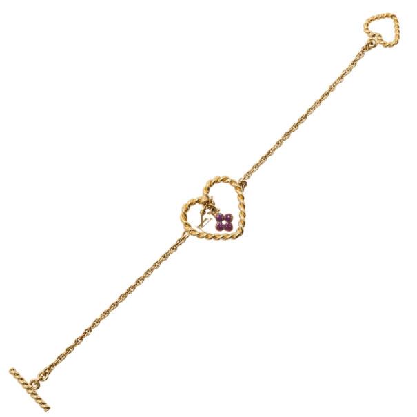 Louis Vuitton Sweet Monogram in my Heart Bracelet 19CM
