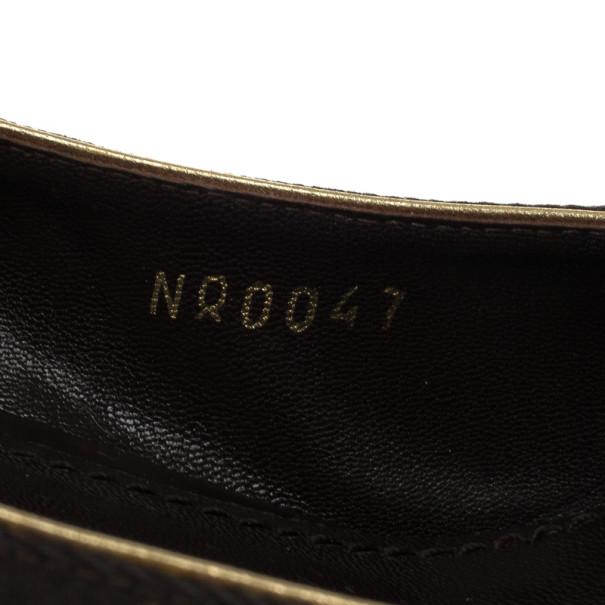 Louis Vuitton Brown Monogram Mini Lin Raquel Pumps Size 39