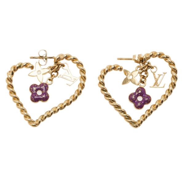Louis Vuitton Sweet Monogram in my Heart Earrings
