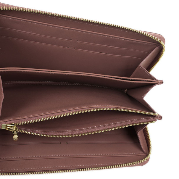 Louis Vuitton Rose Velours Monogram Vernis Ikat Zippy Wallet