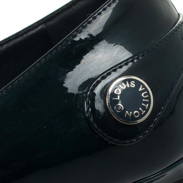 Louis Vuitton Teal Leather Sloane Ballet Flats Size 39