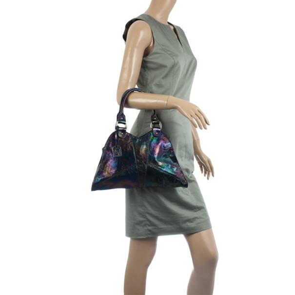 Fendi Devil Diavolo Trapezio Black Leather Handbag Tote