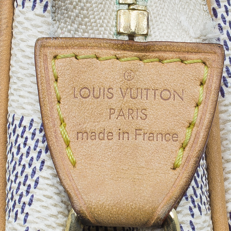 Louis Vuitton Damier Azur Canvas Eva Pochette Crossbody Bag