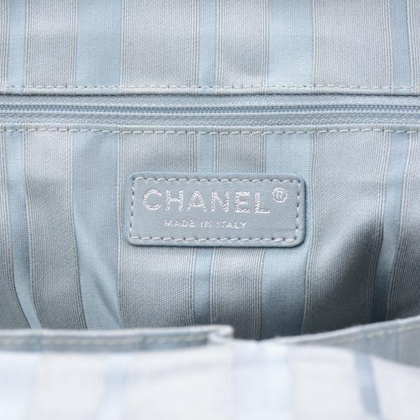 Chanel Denim Logo Large Tote