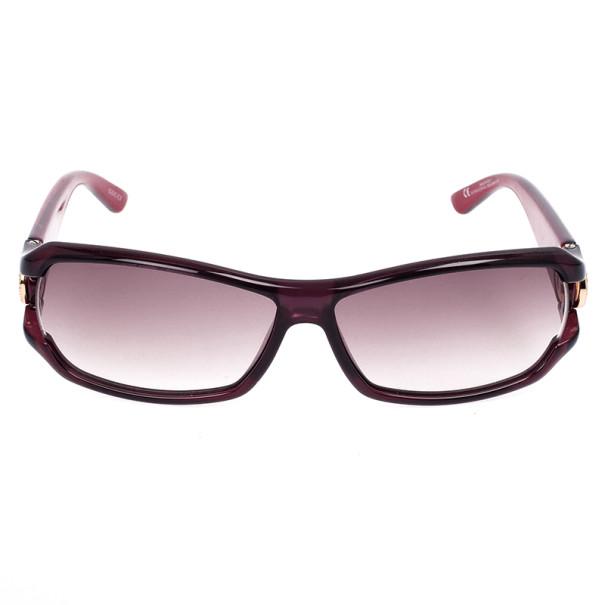 Gucci Purple Rectangle 'GG' Woman Sunglasses