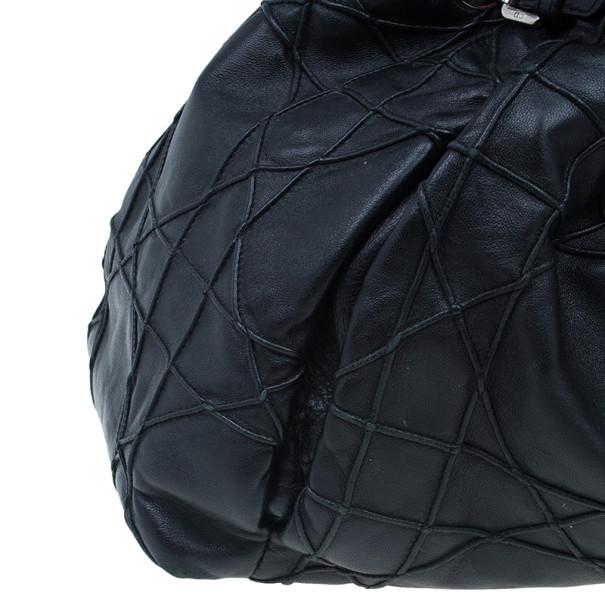 Dior Black Leather Cannage Le Trente Hobo