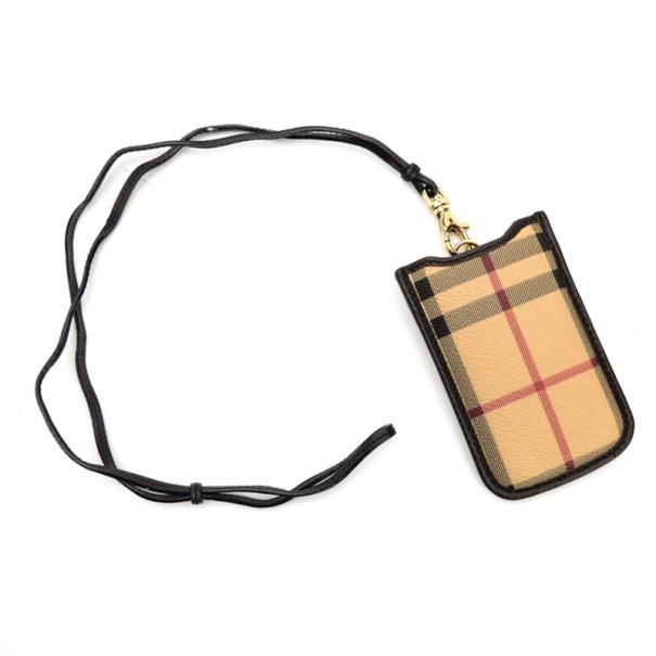 Burberry Nova Check Blackberry Case With Bag Link