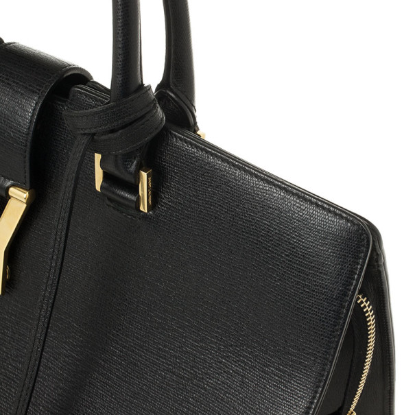 Saint Laurent Black Leather Classic Cabas Y Bag