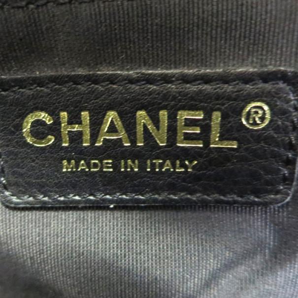 Chanel Black Caviar Boston Bag