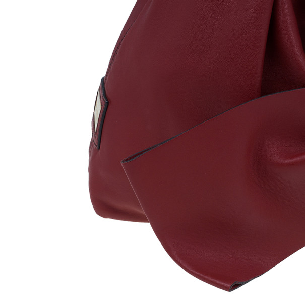 Valentino Red Leather Premier Bow Hobo