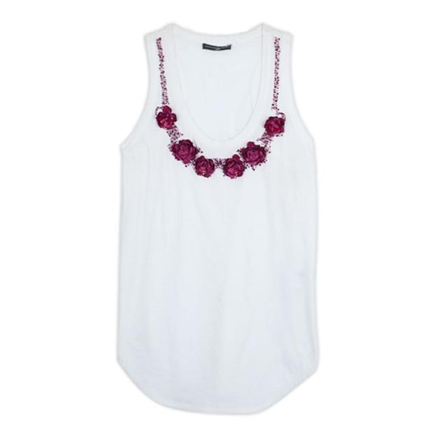 Alexander McQueen Embellished Tank T Shirt L