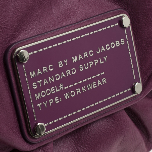 Marc by Marc Jacobs Purple Leather Dr. Q Convertible Clutch