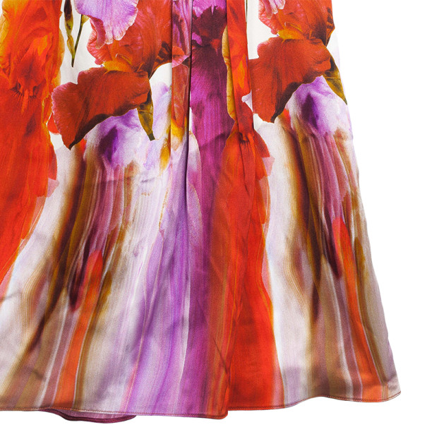Versace Silk Printed Dress L