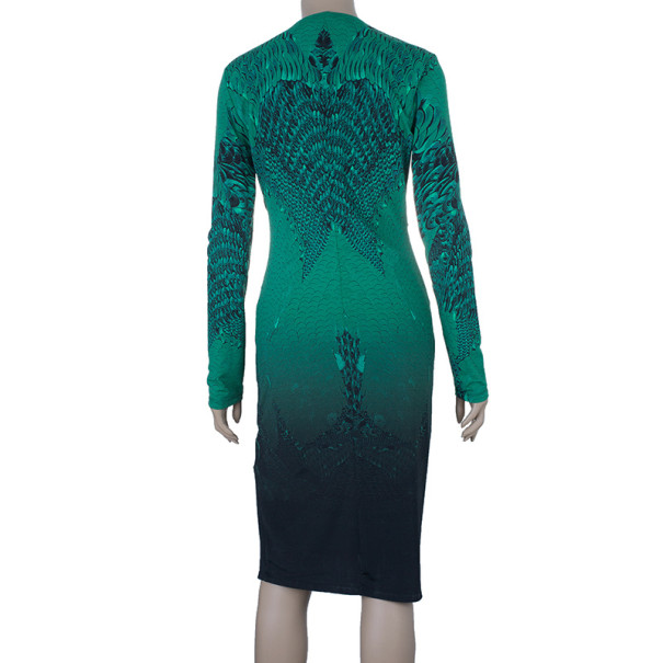 Roberto Cavalli Front Buckle Jersey Dress M