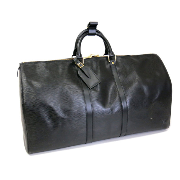 Louis Vuitton Black Epi Keepall 55