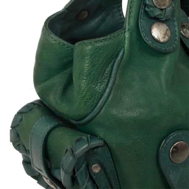 Chloe Green Buffalo Leather Silverado Bag
