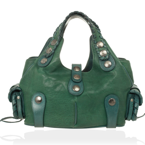 LC - Buy \u0026amp; Sell - Chloe Green Buffalo Leather Silverado Bag