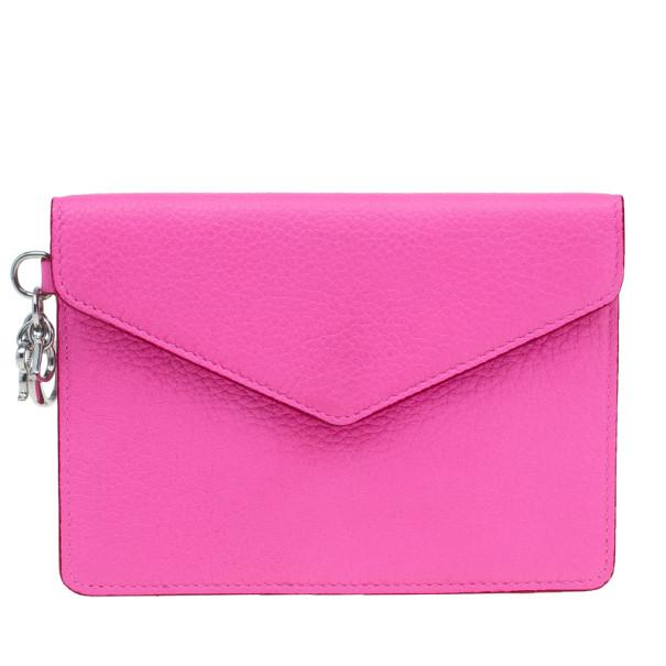 Dior Fuchsia Diorissimo Envelope Wallet
