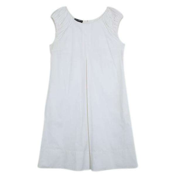 Dolce and Gabbana White Cotton Dress L