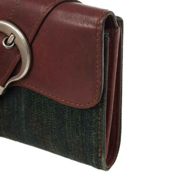Dior Denim Saddle Wallet