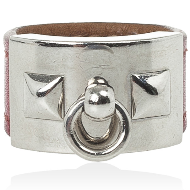 Hermes Collier de Chien Leather Ring Size 57