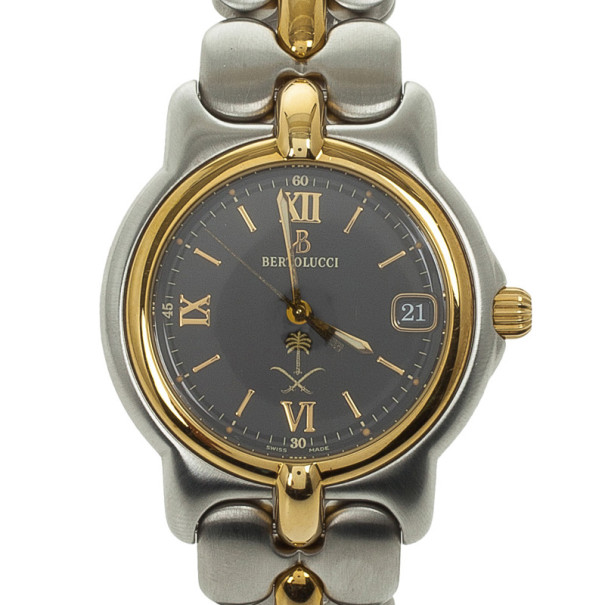 Bertolucci 18k Yellow Gold SS Unisex Wristwatch 35 MM