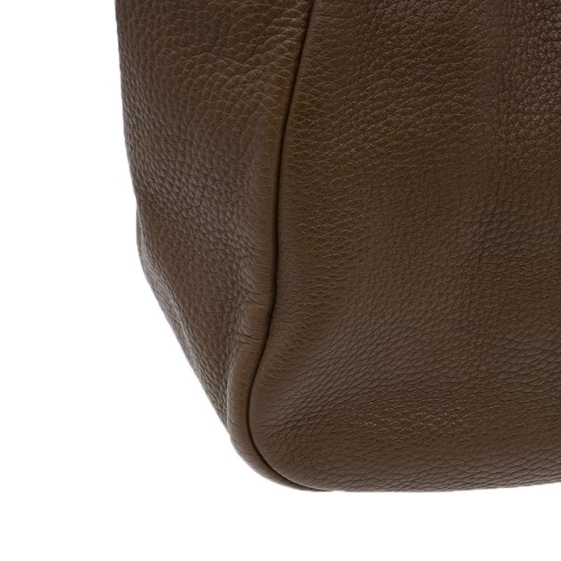 Prada Brown Leather Vitello Daino Tote Bag