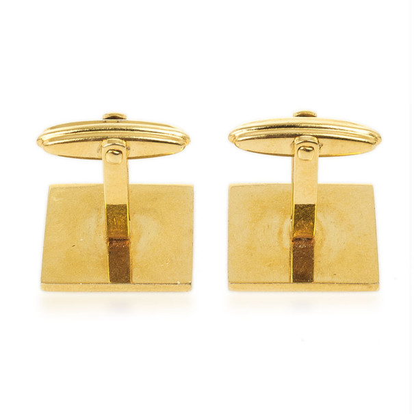 Dunhill Brushed Palladium and Gold Plated Cufflinks