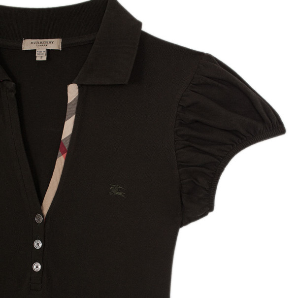 Burberry Check Placket Polo T Shirt S