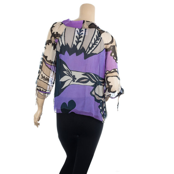 Christian Lacroix Multicolored Silk Blouse M