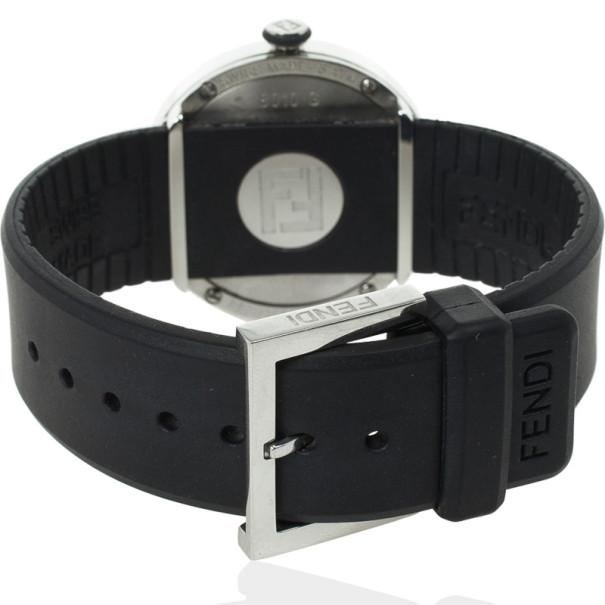 Fendi 8010 G SS Rubber Unisex Wristwatch 38 MM