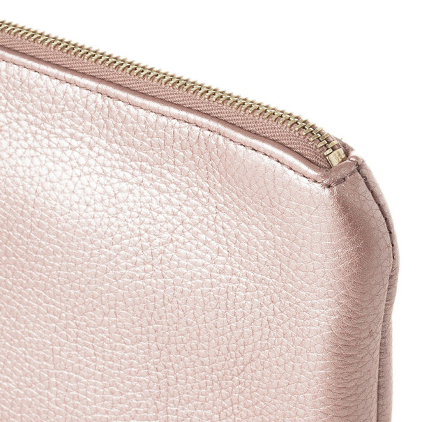Gucci Broadway Metallic Leather Evening Clutch