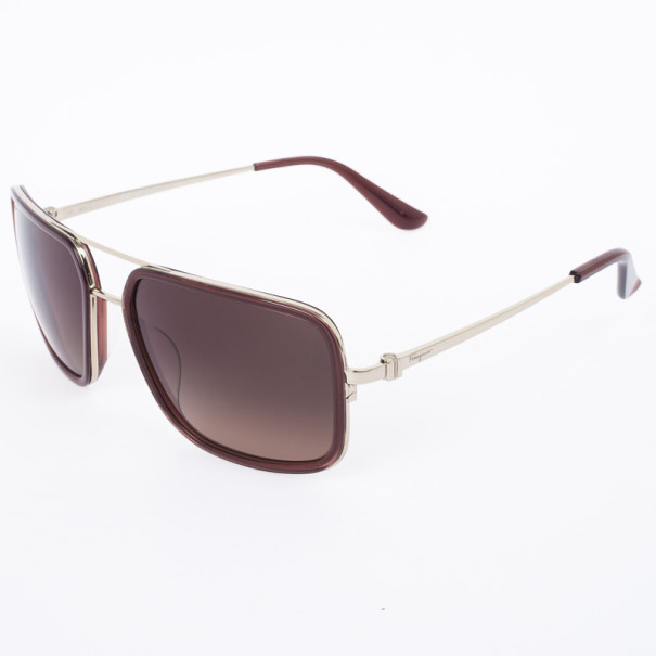 Salvatore Ferragamo Brown 638S Oversized Unisex Sunglasses
